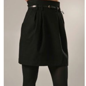 THEORY Hollyann High Waisted Belted Pleated Skirt